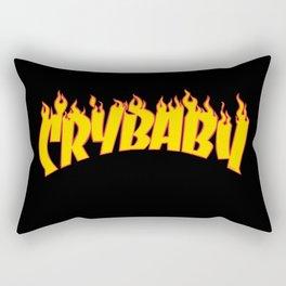 flames text Rectangular Pillow