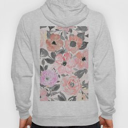 Elegant simple watercolor floral Hoody