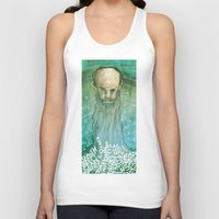 beard Tank Tops featuring Beard by Lee Grace Design and Illustration