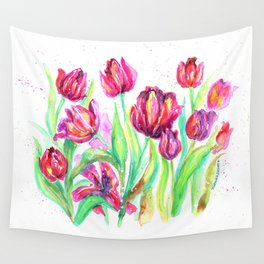 Tulips in Spring Wall Tapestry