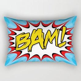 """""""BAM!"""" Pop Art Poster Rectangular Pillow"""