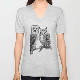 Bubo and Strix Unisex V-Neck