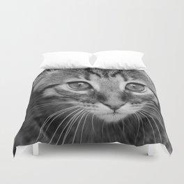 Cat portrait. Duvet Cover