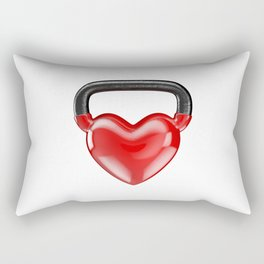 Kettlebell heart vinyl / 3D render of heavy heart shaped kettlebell Rectangular Pillow