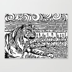 Tiger Dreams Canvas Print