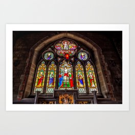 Ancient Stained Glass Art Print