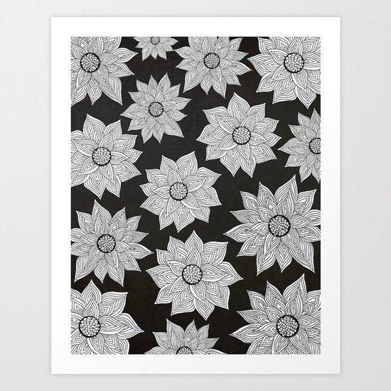 Elegant Flora Art Print