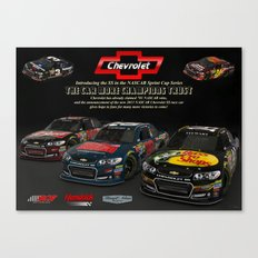 My tribute to #NASCAR and @TeamChevy  Long live #Chevrolet and NASCAR.  by #ScottBates @ernhrtfan Canvas Print