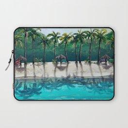 Honeymoon Beach Palm Laptop Sleeve