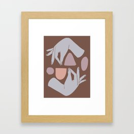 Handy Shapes Framed Art Print