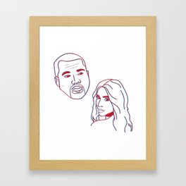 Kimye3D Framed Art Print