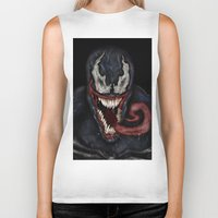 venom Biker Tanks featuring venom by Fila Venom Art