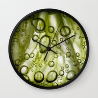 lime Wall Clocks featuring Lime by Ryan Zimmermann