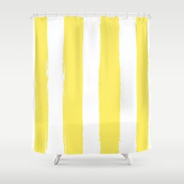 Hamptons Collection (Canary Yellow & White) Shower Curtain