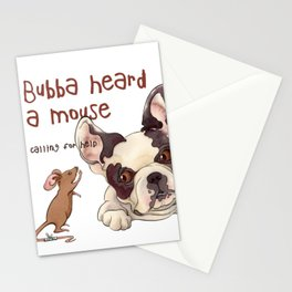 Bubba Heard a Mouse Stationery Cards