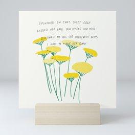 Just Like Heaven Yellow Flowers Illustration Lyric Mini Art Print