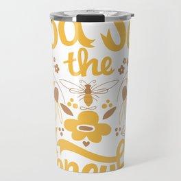God Save the Honeybee Travel Mug