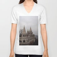 budapest hotel V-neck T-shirts featuring Budapest by L'Ale shop