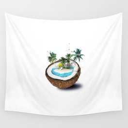 The illusion of the sea paradise Wall Tapestry