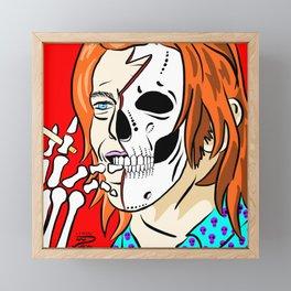 Ashes to Ashes Rockstar Skull Illustration Framed Mini Art Print