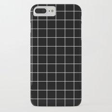 Black White Grid Slim Case iPhone 7 Plus