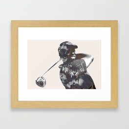 Sir Tiger Woods Framed Art Print