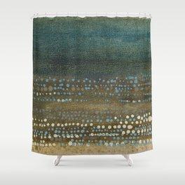 Landscape Dots - Night Shower Curtain