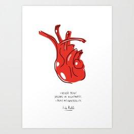 Frida Heart Art Print