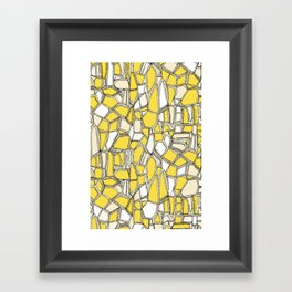 BROKEN POP lemon Framed Art Print