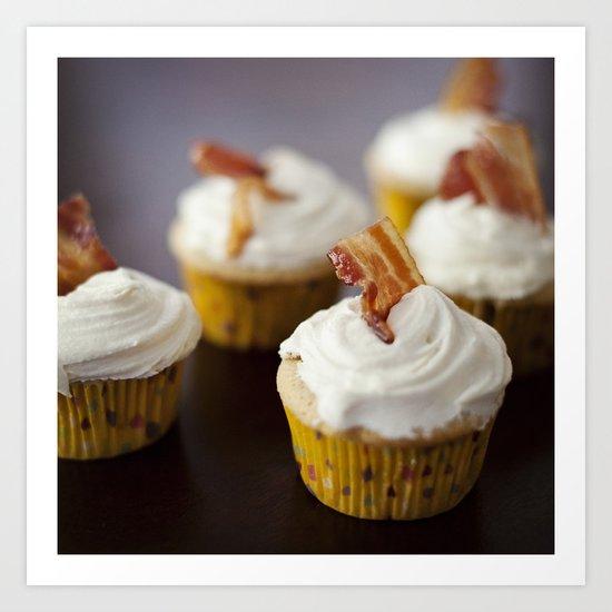 Bacon Maple Cupcake Art Print