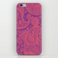 Purple Paisley iPhone Skin