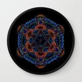 Hexagram Mandala Wall Clock