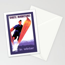 White Mountains in Winter Stationery Cards