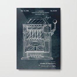 1932 - Slot machine patent art Metal Print