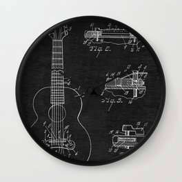 Gibson Acoustic Guitar Patent Wall Clock