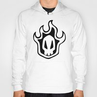 bleach Hoodies featuring Bleach Skull by Prince Of Darkness