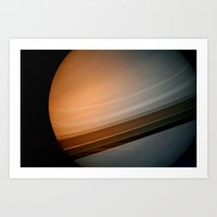 saturn Art Prints featuring Saturn by Anne Seltmann
