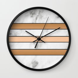 Marble & Copper Wall Clock