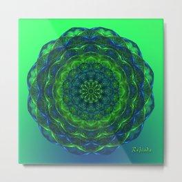 Healing mandala Metal Print