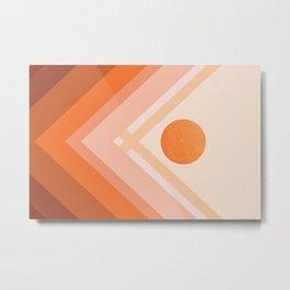 Abstraction_Rainbow_SUN_POP_ART_Minimalism_008X Metal Print