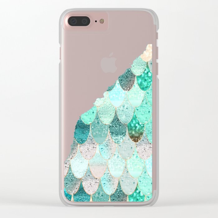 SUMMER MERMAID II Clear iPhone Case