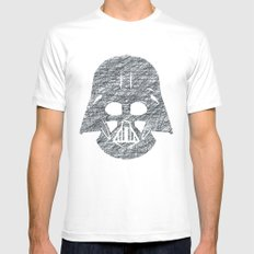 Lines of Vader Mens Fitted Tee White MEDIUM