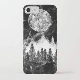 marble black and white landscape iPhone Case