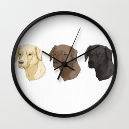 Labradors of Every Flavor Wall Clock