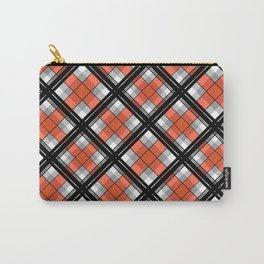 Black and orange plaid Carry-All Pouch