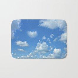 Blue sky and clouds Bath Mat