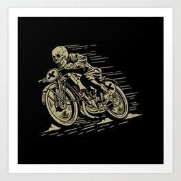 Caferacer Skull Art Print