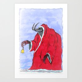 Merry Krampus you filthy animals Art Print