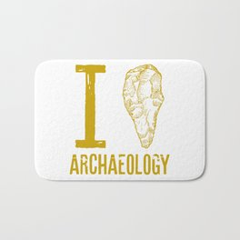 I love archaeology Bath Mat