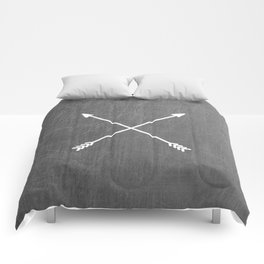gray crossed arrows Comforters